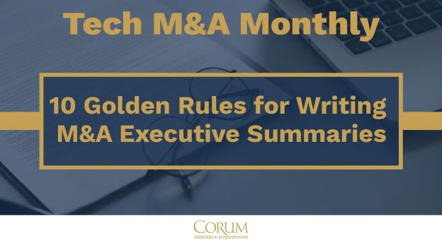 10 Golden Rules to Writing an M&A Executive Summary