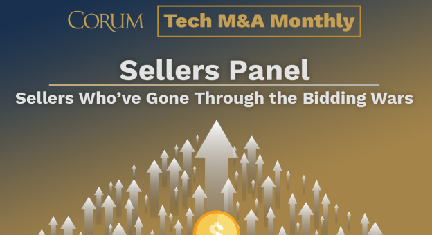Tech M&A Monthly Webcast: Sellers Who've Sold During the Bidding Wars