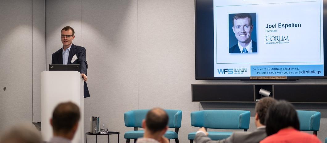 Joel Espelien Speaking at WFS event in Australia 2018